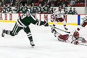 Tim O'Brien (Dartmouth - 8), Jacob Olson (Harvard - 26) - The Harvard University Crimson defeated the Dartmouth College Big Green 5-2 to sweep their weekend series on Sunday, November 1, 2015, at Bright-Landry Hockey Center in Boston, Massachusetts. -