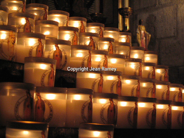 Prayer candles at Notre Dame