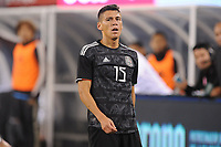 EAST RUTHERFORD, NJ - SEPTEMBER 7: Hector Moreno #15 of Mexico during the game during a game between Mexico and USMNT at MetLife Stadium on September 6, 2019 in East Rutherford, New Jersey.