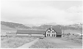 Ridgway depot from the rear.<br /> RGS  Ridgway, CO  Taken by Peyton, Ernie S. - 3/29/1950
