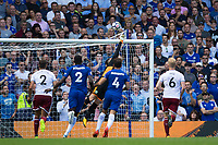 Burnley's Thomas Heaton makes a key save<br /> <br /> Photographer Craig Mercer/CameraSport<br /> <br /> The Premier League - Chelsea v Burnley - Saturday August 12th 2017 - Stamford Bridge - London<br /> <br /> World Copyright &copy; 2017 CameraSport. All rights reserved. 43 Linden Ave. Countesthorpe. Leicester. England. LE8 5PG - Tel: +44 (0) 116 277 4147 - admin@camerasport.com - www.camerasport.com