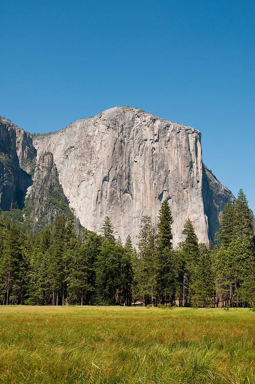 El Capitan and meadow from Yosemite Valley, Yosemite National Park, California, USA.  Photo copyright Lee Foster.  Photo # california120743