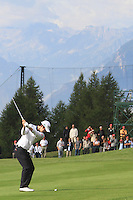 Noh Seung-yul (KOR) on the 17th during the 1st day of the Omega European Masters, Crans-Sur-Sierre, Crans Montana, Switzerland..Picture: Golffile/Fran Caffrey..
