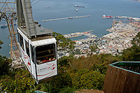 Cable car ascending the Rock of Gibraltar, Gibraltar.