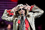 Steven Tyler of Aerosmith performs at Nationwide Arena during the 'Global Warming Tour' in Columbus, Ohio.