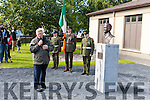 The Athea Community unveils a bronze bust in memory of their greatest son Con Colbert last Sunday afternoon at the Memorial Hall, Newly appointed PP to Athea Fr. Brendan  Duggan blesses the Con Colbert bust.