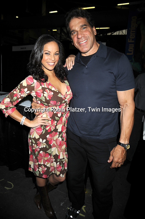Daphnee Duplaix and Lou Ferrigno