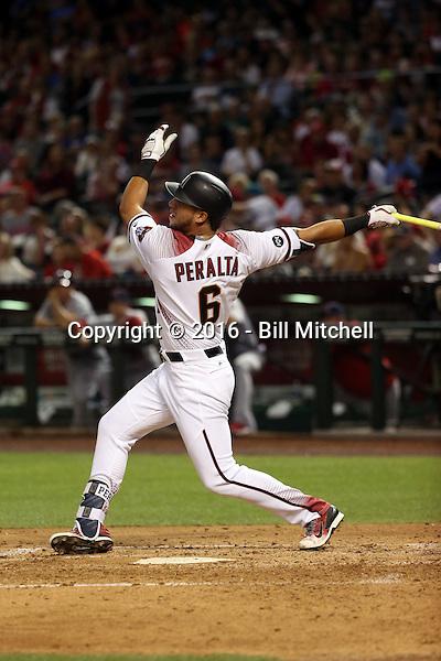 David Peralta - 2016 Arizona Diamondbacks (Bill Mitchell)