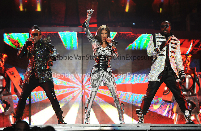 "Apl.de.ap,Will.i.am & Stacy Ferguson aka Fergie of The Black Eyed Peas performs live at Staples Center as part of their ""The E.N.D. Tour"" in Los Angeles, California on March 29,2010                                                                   Copyright 2010  DVS / RockinExposures"