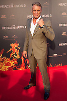 """MADRI, ESPANHA, 08 AGOSTO 2012 - PRE ESTREIA OS MERCENARIOS 2 - O ator sueco Dolph Lundgren durante a premiere do filme """"Os Mercenarios 2"""" no Callao Cinema em Madri capital da Espanha, na noite desta quarta-feira, 08. (FOTO: BILLY CHAPPE / ALFAQUI / BRAZIL PHOTO PRESS)."""