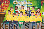 PRESENTATION: The Kingdom Boys U8's team at their medal presentation at the Brandon Hotel on Saturday.