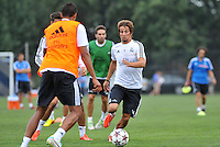 Saint Louis, MO August 1 2013<br /> Fabio Coentrao.<br /> Real Madrid practiced at Herman Stadium on the campus of Saint Louis University ahead of their international friendly with Inter Milan at the Edward Jones Dome.