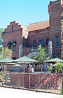 "Hanford CA.: Former jail, 1898. South side of Courthouse Square adjoining Courthouse. Now ""Bastille"" Bar & Restaurant."