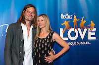 LAS VEGAS, NV - July 14, 2016: Christopher Backus and Mira Sorvino pictured arriving at The Beatles LOVE by Cirque Du Soleil at The Mirage Resort in Las vegas, NV on July 14, 2016. Credit: Erik Kabik Photography/ MediaPunch