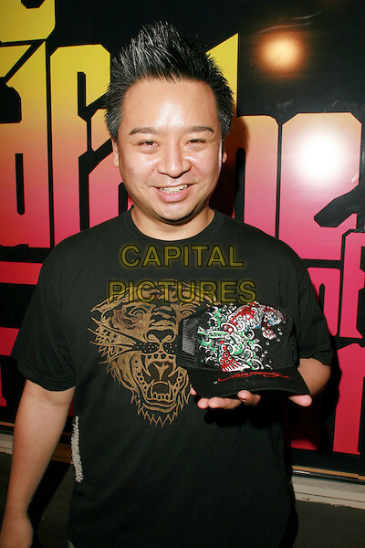 REX LEE.Ed Hardy Grand Re-Opening of the Melrose Store, Hollywood, California, USA..October 20th, 2006.Ref: ADM/CH.half length black tee shirt baseball cap hat.www.capitalpictures.com.sales@capitalpictures.com.©Charles Harris/AdMedia/Capital Pictures.