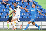 Getafe CF's Jorge Molina (r) and Atalanta BC's Jose Luis Palomino during friendly match. August 10,2019. (ALTERPHOTOS/Acero)