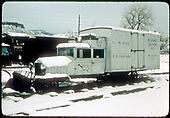 RGS Goose #2 at Colorado Railroad Museum in snow.<br /> RGS  Golden, CO  Taken by Dorman, Richard L. - ca. 1970