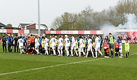 20180414 - AALTER , BELGIUM : Both team line ups pictured during the 21st matchday in the 2e Nationale Women's league , a womensoccer game between Club Brugge Dames and GFA Sinaai , in Aalter , saturday 15 th April 2018 . PHOTO SPORTPIX.BE | DAVID CATRY