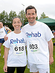 Brother and sister Steven and Sue-Ann Synnott who took part in the REHAB 10k run organized by St Colmcilles GAA club. Photo: Colin Bell/pressphotos.ie