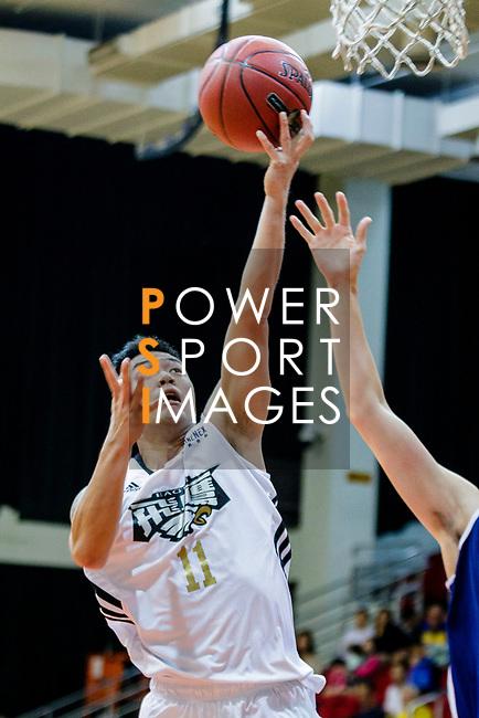 Tsang Hin Tong #11 of Eagle Basketball Team tries to score during the Hong Kong Basketball League game between Eagle and Winling at Southorn Stadium on May 4, 2018 in Hong Kong. Photo by Yu Chun Christopher Wong / Power Sport Images