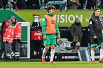 10.02.2019, Weserstadion, Bremen, GER, 1.FBL, Werder Bremen vs FC Augsburg<br /> <br /> DFL REGULATIONS PROHIBIT ANY USE OF PHOTOGRAPHS AS IMAGE SEQUENCES AND/OR QUASI-VIDEO.<br /> <br /> im Bild / picture shows<br /> Ersatzspieler Milos Veljkovic (Werder Bremen #13) bei Spielende,  <br /> <br /> Foto &copy; nordphoto / Ewert