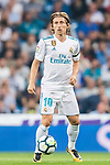 Luka Modric of Real Madrid in action during the La Liga 2017-18 match between Real Madrid and Real Betis at Estadio Santiago Bernabeu on 20 September 2017 in Madrid, Spain. Photo by Diego Gonzalez / Power Sport Images