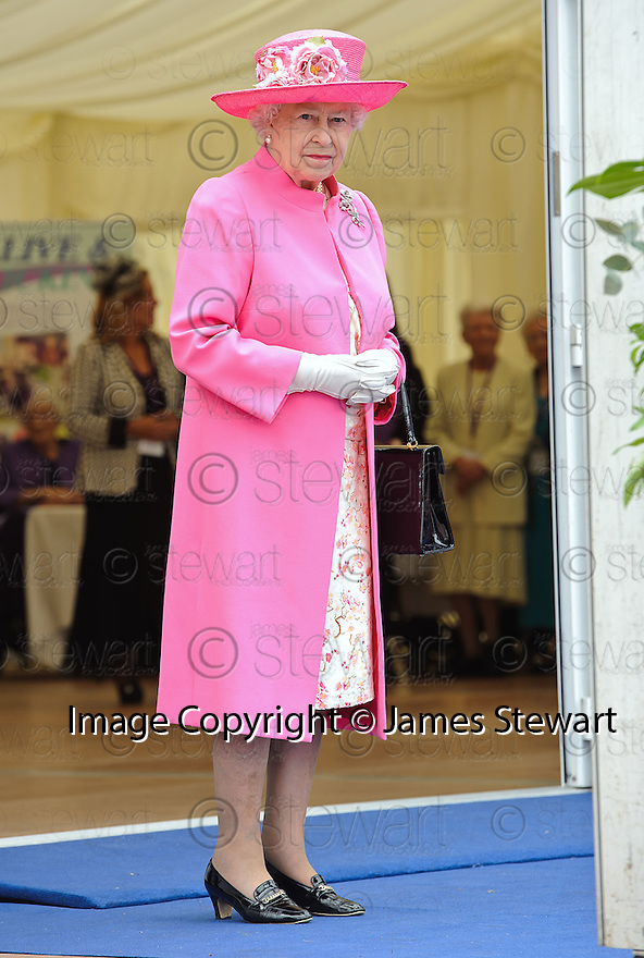 Her Majesty, Queen Elizabeth  at George Square, Glasgow as part her her Diamond Jubilee Celebrations.