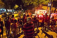 RIO DE JANEIRO, RJ, 12.11.2014 - NBB - FLAMENGO X FRANCA (SP) - Torcedores são impedidos de entrar no ginásio após decisão liminar da 4a Vara Empresarial do Rio de Janeiro, decorrente de Ação Civil Pública ajuizada pelo Ministério Público, que impede a realização de toda e qualquer atividade esportiva nas dependências do Tijuca Tênis Clube com público. A partida entre Flamengo e Franca, válida pela terceira rodada do NBB 2014, realiza-se no ginásio do Tijuca Tênis Clube, na Tijuca, zona norte da cidade, nesta quarta-feira, 12. (Foto: Gustavo Serebrenick / Brazil Photo Press)