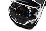 Car stock 2017 Mercedes Benz Sprinter Base 4 Door Cargo Van engine high angle detail view