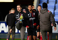 Lincoln City's Zack Elbouzedi during the pre-match warm-up<br /> <br /> Photographer Andrew Vaughan/CameraSport<br /> <br /> The EFL Sky Bet League One - Shrewsbury Town v Lincoln City - Saturday 11th January 2020 - New Meadow - Shrewsbury<br /> <br /> World Copyright © 2020 CameraSport. All rights reserved. 43 Linden Ave. Countesthorpe. Leicester. England. LE8 5PG - Tel: +44 (0) 116 277 4147 - admin@camerasport.com - www.camerasport.com