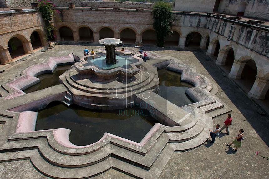 A fountain at Iglesia La Merced in Antigua, Guatemala on Thursday, March 15, 2007.