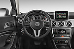 Car pictures of steering wheel view of a2015 Mercedes Benz GLA 250 4Matic Exclusiefpakket 5 Door SUV Steering Wheel