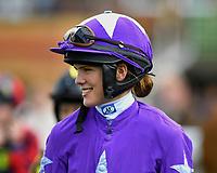 Jockey Suzannah Stevens during Twilight Racing at Salisbury Racecourse on 14th September 2018
