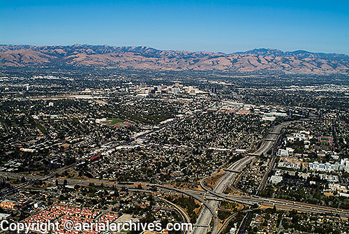 aerial photograph San Jose, San Clara county, California