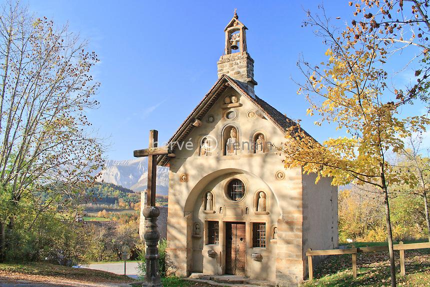France, Hautes-Alpes (05), Bénévent-et-Charbillac, chapelle des Pétètes // France, Hautes-Alpes, Benevent et Charbillac, chapel des Petetes