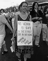 Take Back the Night March Cambridge MA 1980