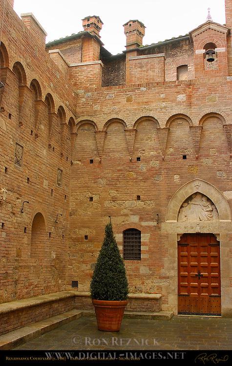 Palazzo Chigi-Saracini Renaissance Courtyard 1506, Siena, Italy
