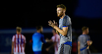 Lincoln City's Cian Bolger applauds the fans at the final whistle<br /> <br /> Photographer Chris Vaughan/CameraSport<br /> <br /> Football Pre-Season Friendly - Lincoln City v Stoke City - Wednesday July 24th 2019 - Sincil Bank - Lincoln<br /> <br /> World Copyright © 2019 CameraSport. All rights reserved. 43 Linden Ave. Countesthorpe. Leicester. England. LE8 5PG - Tel: +44 (0) 116 277 4147 - admin@camerasport.com - www.camerasport.com