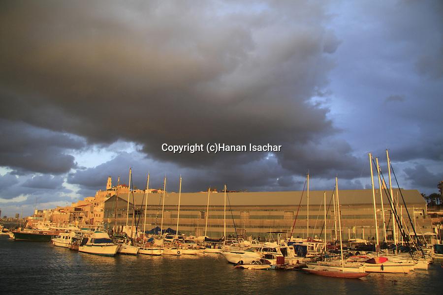 Israel, Tel Aviv-Yafo, a view of Old Jaffa port