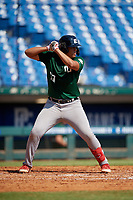 Marcus Franco (19) of Doral Academy Charter School in Miramar, FL during the Perfect Game National Showcase at Hoover Metropolitan Stadium on June 20, 2020 in Hoover, Alabama. (Mike Janes/Four Seam Images)
