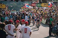 a 2nd group rolling in at the finish<br /> <br /> Stage 10: Annecy &gt; Le Grand-Bornand (159km)<br /> <br /> 105th Tour de France 2018<br /> &copy;kramon