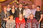 Rosaleen Doherty, Ursala Doppler, Vincent O'Shea, kathleen O'Sullivan, Daniel O'Shea, Norma O'Shea, Ralph Doppler, Michael O'Shea, John Foley and Ann Foley pictured enjoying the Upper Caragh Fishery Christmas party in Beaufort Bar on Friday night.   Copyright Kerry's Eye 2008
