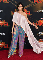 "LOS ANGELES, CA. March 04, 2019: Gemma Chan at the world premiere of ""Captain Marvel"" at the El Capitan Theatre.<br /> Picture: Paul Smith/Featureflash"