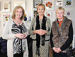Breda McNelis, Brenadette Fox and Rachel Tinniswood pictured at the launch of Louth Craftmark at Wogan Interiors. Photo: Colin Bell/pressphotos.ie