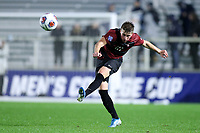 CARY, NC - DECEMBER 13: Keegan Tingey #21 of Stanford University kicks the ball during a game between Stanford and Georgetown at Sahlen's Stadium at WakeMed Soccer Park on December 13, 2019 in Cary, North Carolina.
