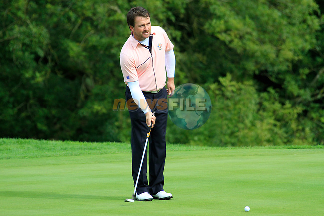 Graeme McDowell on the 15th green during Practice Day 3 of the The 2010 Ryder Cup at the Celtic Manor, Newport, Wales, 29th September 2010..(Picture Eoin Clarke/www.golffile.ie)