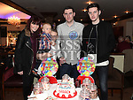 Darren Arnold celebrating his 21st birthday in Daly's of Donore with Brigit Carroll, Aaron Myles, Reece McWeeney and Oliver Arnold. Photo:Colin Bell/pressphotos.ie