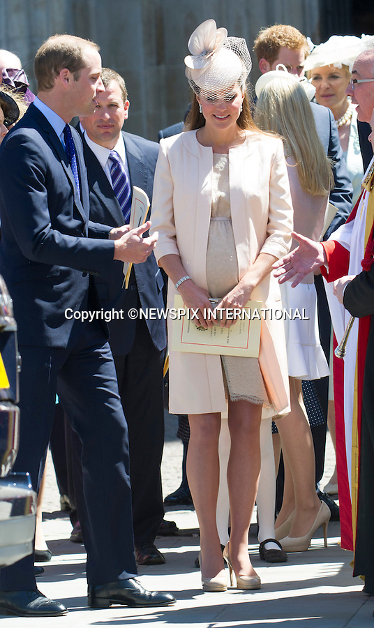 PRINCE WILLIAM AND KATE MIDDLETON<br /> joined other members of the Royal Family for  A Service to Celebrate the Queen's 60th Anniversary of the Coronation Service at Westminster Abbey, London_04/06/2013<br /> Members of the Royal Family attending the Service included The Prince of Wales and The Duchess of Cornwall, The Duke and Duchess of Cambridge, Prince Henry of Wales, The Duke of York and Princesses Beatrice and Eugenie, The Earl and Countess of Wessex and The Lady Louise Mountbatten-Windsor, The Princess Royal, Vice Admiral Sir Tim Laurence, Peter Phillips and Autumn (Kelly) Phillips, Zara (Phillips) Tindall and Mike Tindall, The Duke and Duchess of Gloucester, The Duke and Duchess of Kent, Prince and Princess Michael of Kent<br /> Mandatory Credit Photo: &copy;Francis Dias/NEWSPIX INTERNATIONAL<br /> <br /> **ALL FEES PAYABLE TO: &quot;NEWSPIX INTERNATIONAL&quot;**<br /> <br /> IMMEDIATE CONFIRMATION OF USAGE REQUIRED:<br /> Newspix International, 31 Chinnery Hill, Bishop's Stortford, ENGLAND CM23 3PS<br /> Tel:+441279 324672  ; Fax: +441279656877<br /> Mobile:  07775681153<br /> e-mail: info@newspixinternational.co.uk
