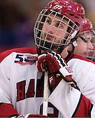 Danny Biega (Harvard - 9) - The Harvard University Crimson defeated the St. Lawrence University Saints 4-3 on senior night Saturday, February 26, 2011, at Bright Hockey Center in Cambridge, Massachusetts.
