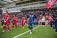 Adebayo Akinfenwa of Wycombe Wanderers ahead of the Sky Bet League 2 match between Leyton Orient and Wycombe Wanderers at the Matchroom Stadium, London, England on 1 April 2017. Photo by Andy Rowland.